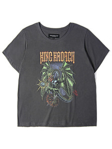 MAD DRAGON TEE SS [CHARCOAL]