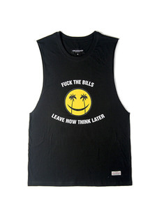 SMILEY SLEEVELESS [BLACK]