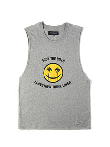 SMILEY SLEEVELESS [GRAY]