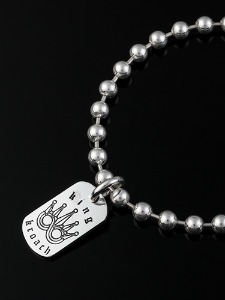DOG TAG BALL CHAIN BRACELET