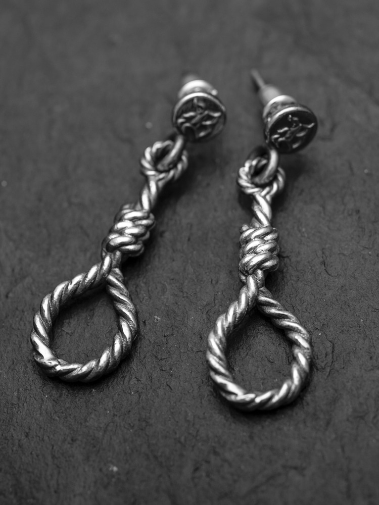 SUICIDAL HANG ROPE EARRING