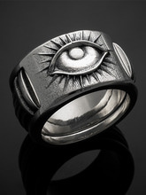ALL SEEING EYE PILLAR RING
